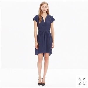 Madewell Silk Fable Dress in Leaf Shade